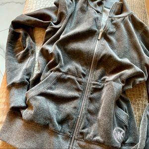 MiICHAEL Michael Kors Velvet Emblem Bomber Jacket